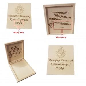 Pudełko na kopertę na pamiątkę Komunii Świętej