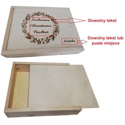 Pudełko na zdjęcia z grawerem