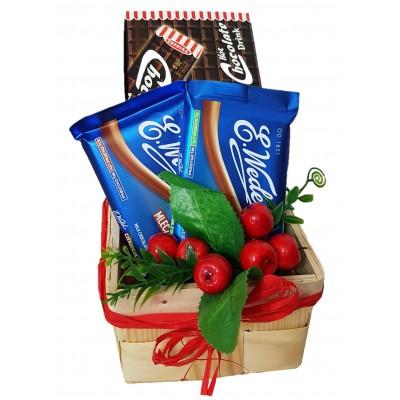 """Koszyczek """"I love chocolate"""""""